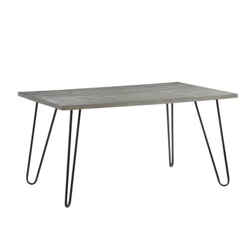 FL 現代木質鐵件餐桌